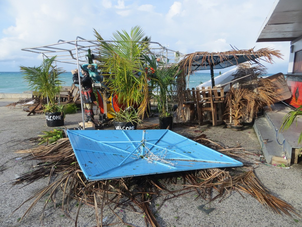 Driftwood Boat Bar damage from Gonzalo