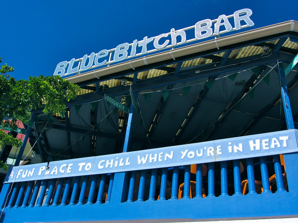 Blue Bitch Bar, St. Maarten, Credit Richie Diesterheft
