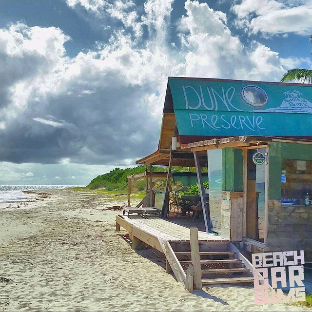 Dune Preserve beach bar in Anguilla.
