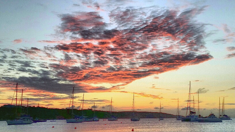 Sunset over Road Bay in Sandy Ground, Anguilla