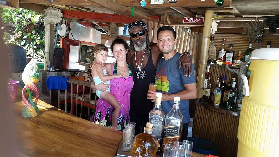 Chilling with Bankie Banx at Dune Preserve, his beach bar in Anguilla and home to Moonsplash.