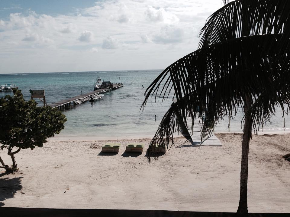 View from second floor of ABC Bar, San Pedro Town, Belize.