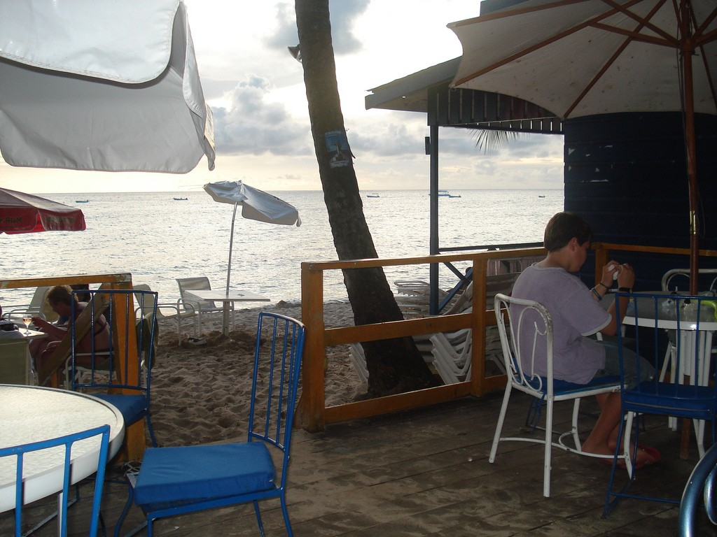 View from Juju's Beach Bar. Credit Meg Stewart.