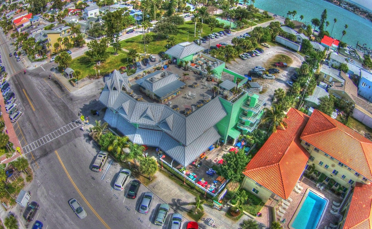 St Pete Florida Aerial Views Of P A Grille S Hurricane Seafood Restaurant Beach