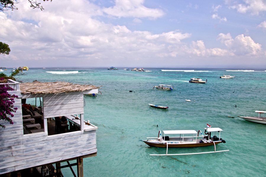 The Deck Cafe and Bar, Nusa Lembongan, Bali, Indonesia.