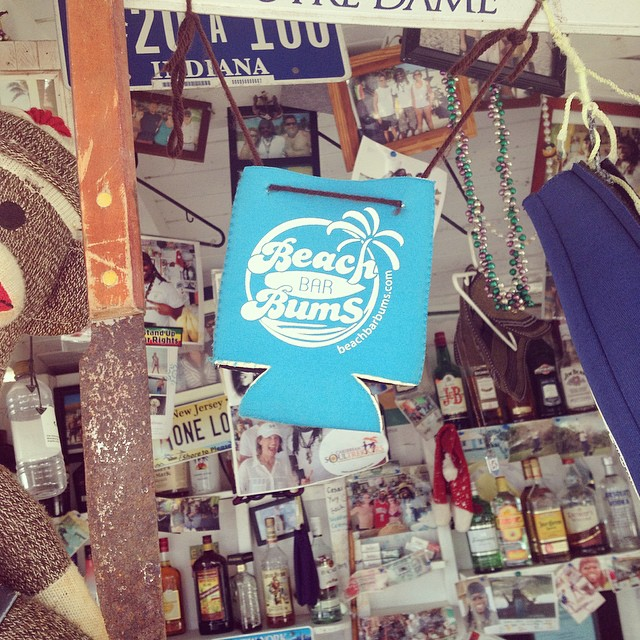 My koozies hanging out at Garvey's Sunshine Shack, Anguilla. Photo by @keithlabelle22