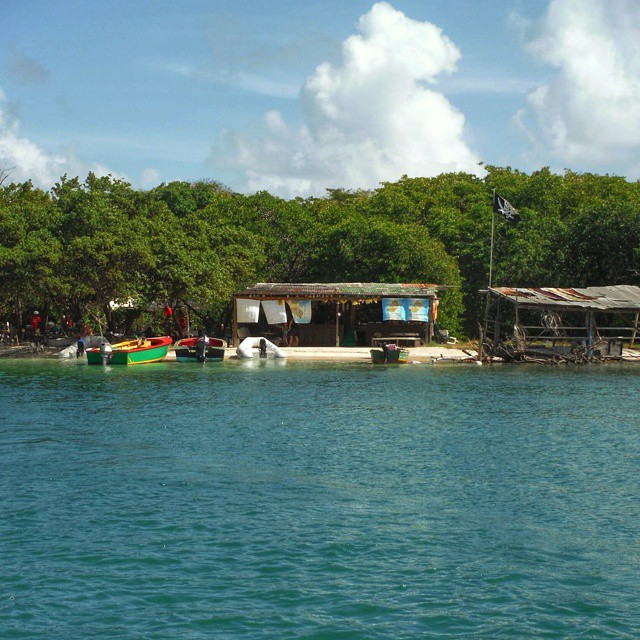 Roger's Bar on Hog Island, Grenada. Photo by Instagram user @jo_kost .