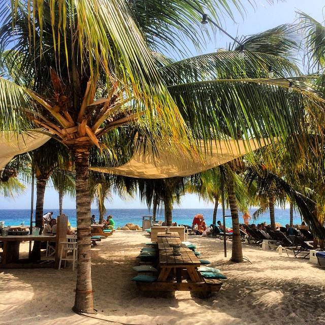View from Jan Thiel Beach, Curacao. Photo by Instagram user @trvldiary.