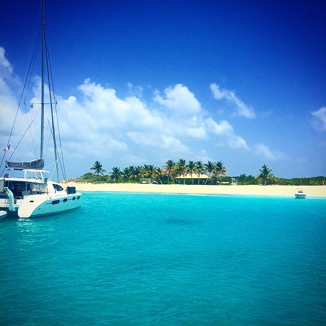 View of Johnno's on Prickly Pear Cay, Anguilla. Photo by Instagram user @johnnosbeachstop.