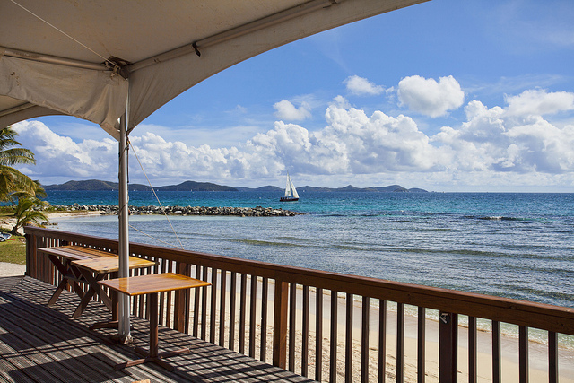 View from Nanny Cay Resort, Tortola, BVI. Photo by Michael Poreblak.
