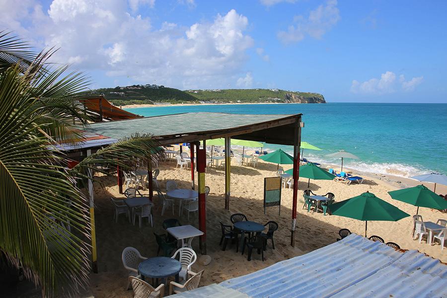 Gus' Beach Bar, Baie Rouge, St. Martin. Photo by Paul Sableman.