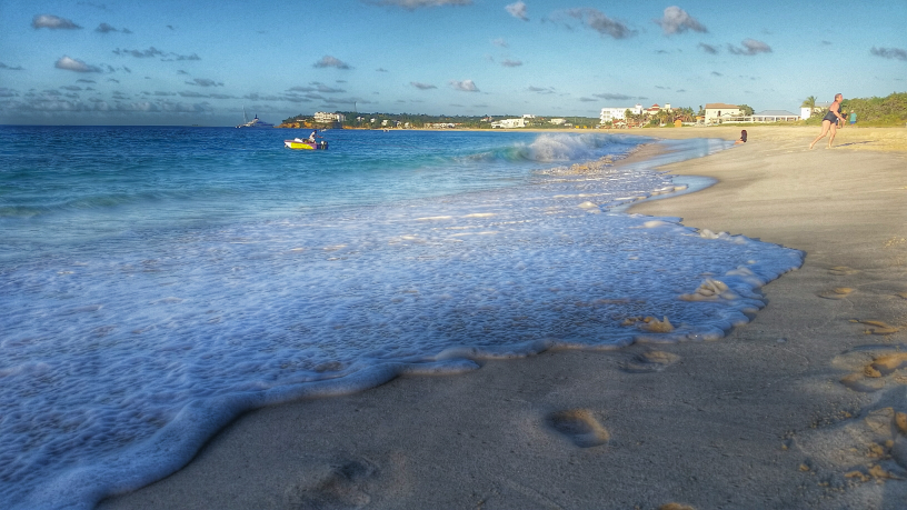 The beach in front of the Anacaona, Meads Bay, Anguilla.
