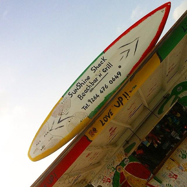A sign of good times! Garvey's Sunshine Shack, Anguilla. Image by Instagram user @bikinisunset.