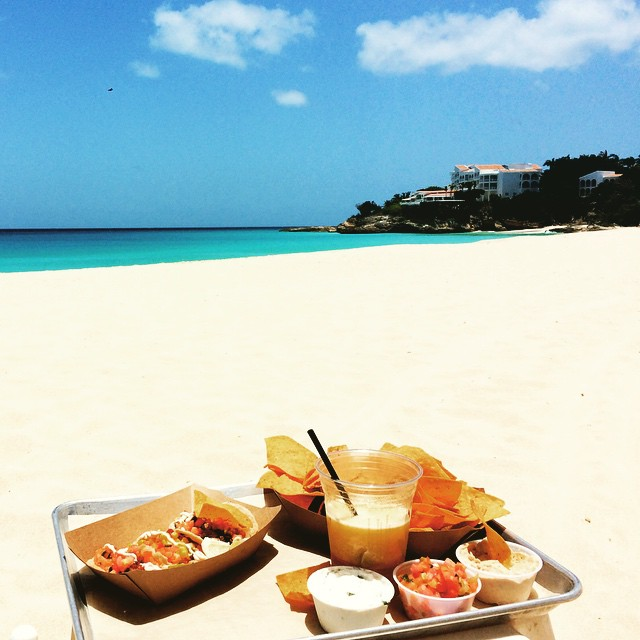 Taco Tuesday at Blanchards on Meads Bay in Anguilla. Does it get much better? Image by Instagram user @nickybeachusa.