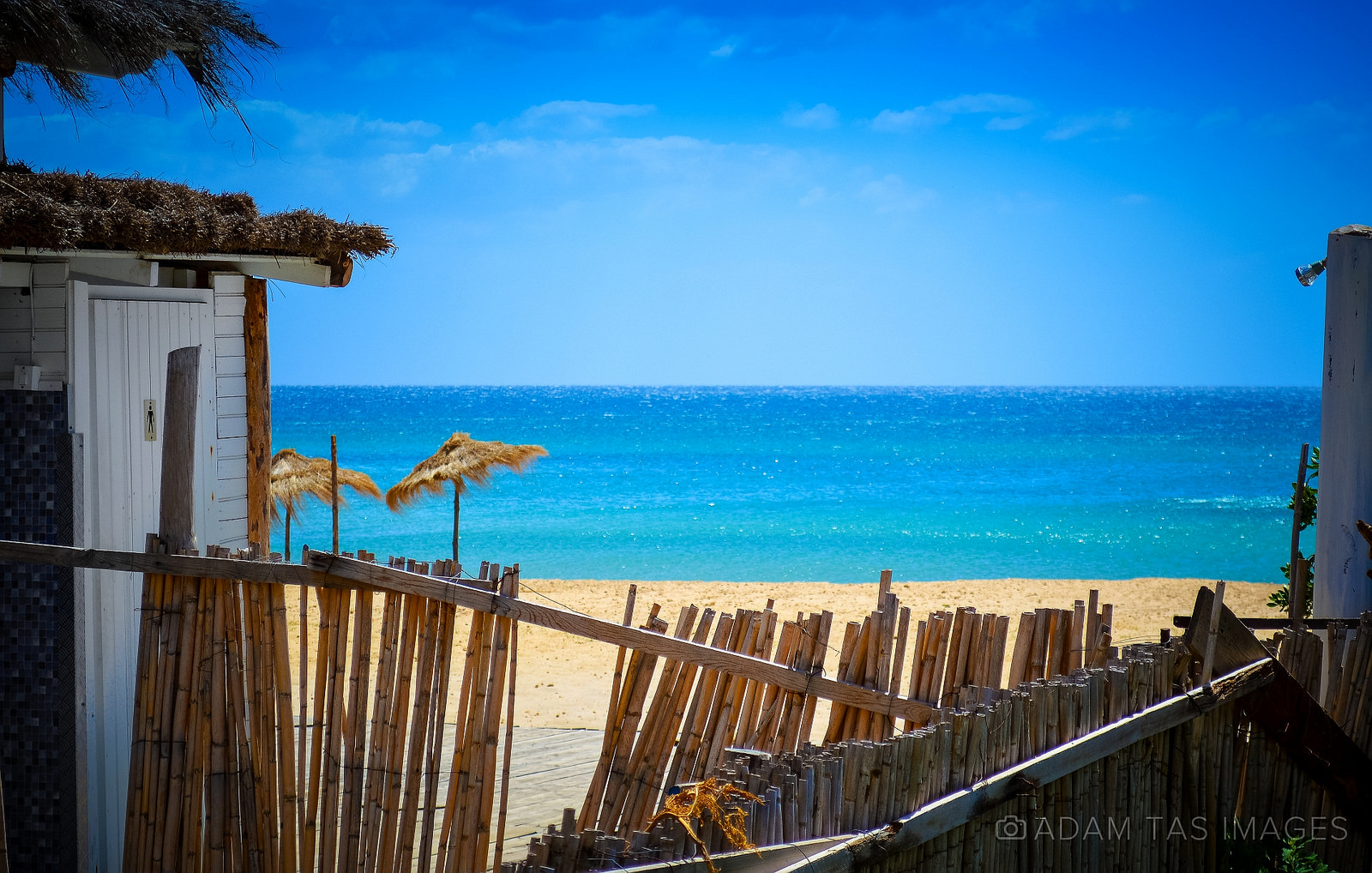 Abandoned beach bar in Tunisia. Photo by Adam Tas Images.