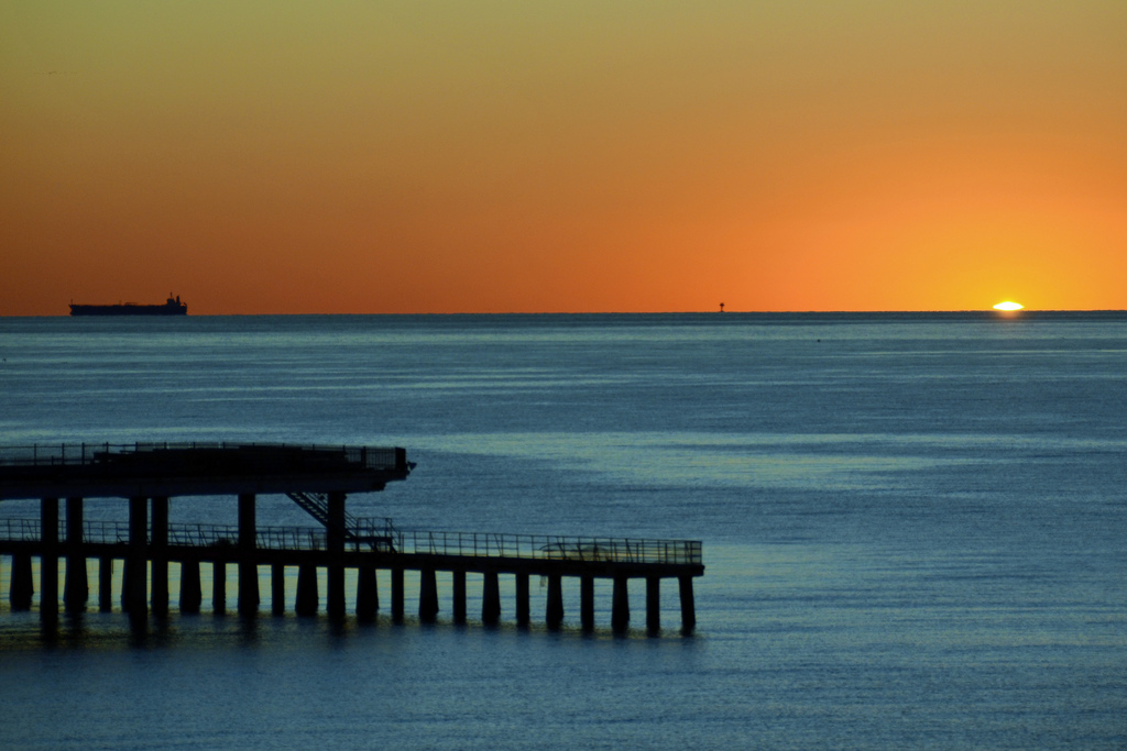 Galveston sunrise. Image by flickr user Woody Hibbard.