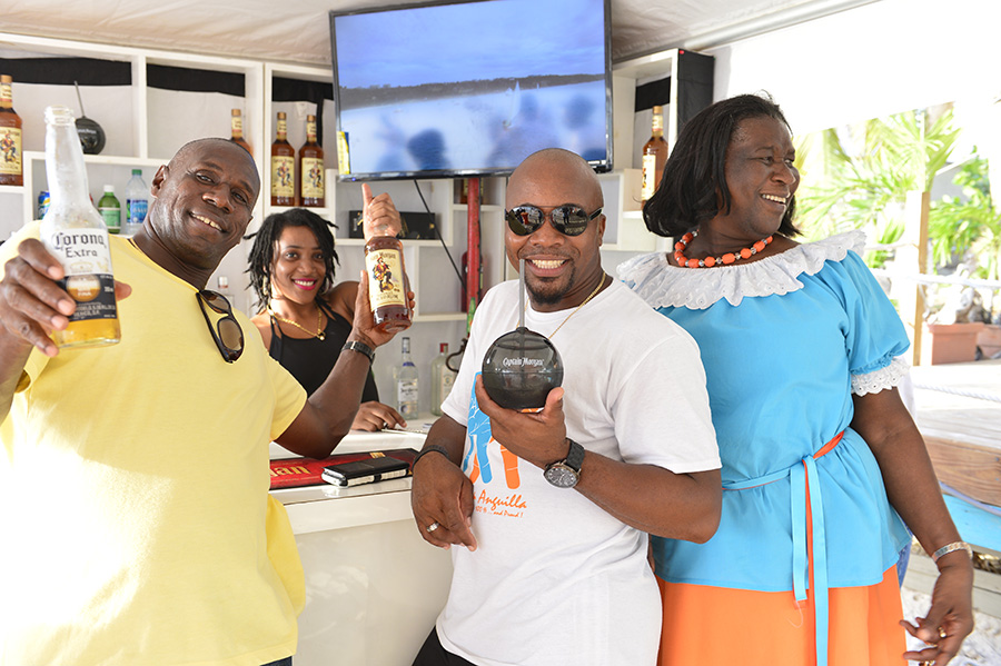 Liming at the Captain's Lounge, Sandy Ground, Anguilla.