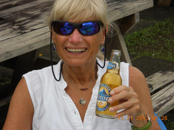 Marylou Hansen - Beach bar in Castries, St. Lucia