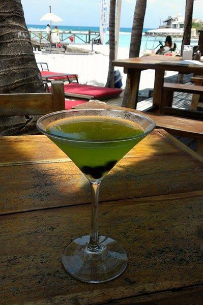 Sharon Puckett Verderber - Tropical Martini at Fenix Lounge, Isla   Mujeres