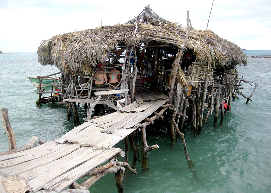 "Floyd's Pelican Bar, Jamaica. Photo by flickr user ""rebl1231"""