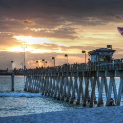 Sunset at Sharky's on the Pier