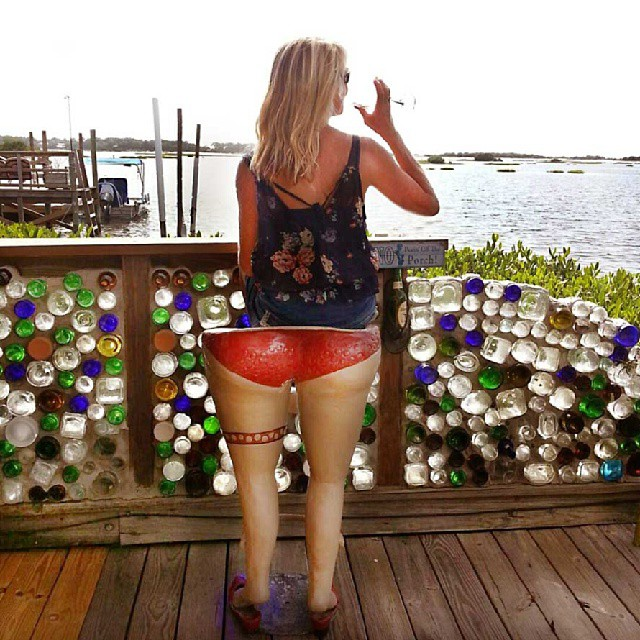 Enjoying the view at Hideaway Tiki Bar, Cedar Key, Florida.  Photo by Instagram user @beachesbarsandbugalows
