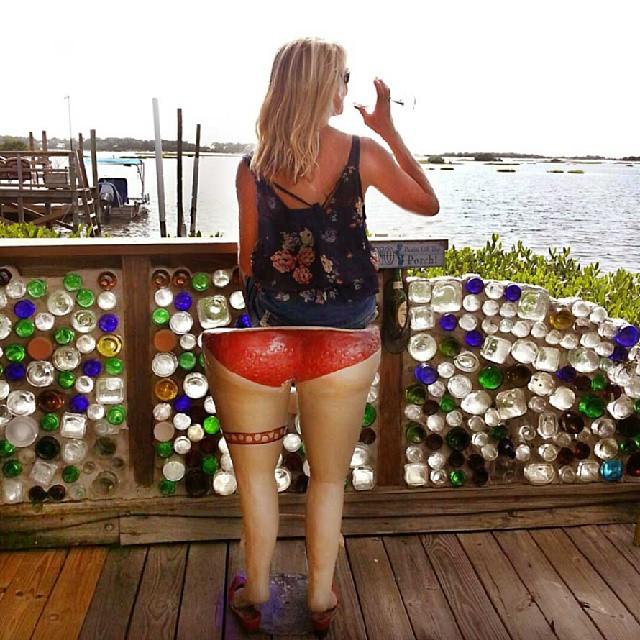 Enjoying the view at Hideaway Tiki Bar, Cedar Key, Florida.  Photo by Instagram user @beachesbarsandbugalows