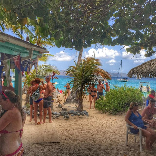 Joining the scene at the Soggy Dollar, Jost Van Dyke, British Virgin Islands. Photo by Instagram user beshannonphotos