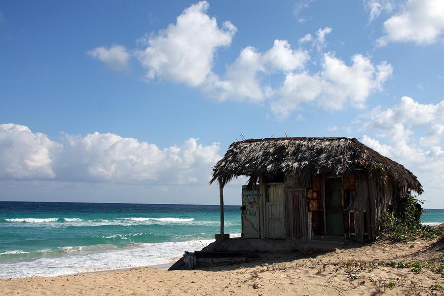 Beach shack in Cuba.