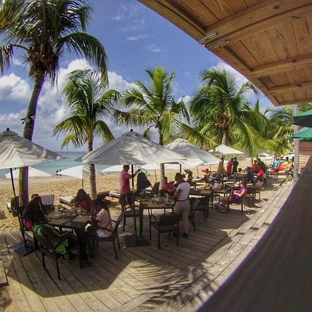 GoPro view from the beach bar at Da'Vida, Anguilla.
