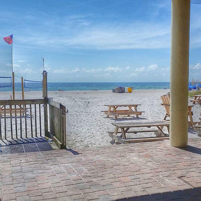 View from Undertow Beach Bar, St. Pete Beach, Florida.