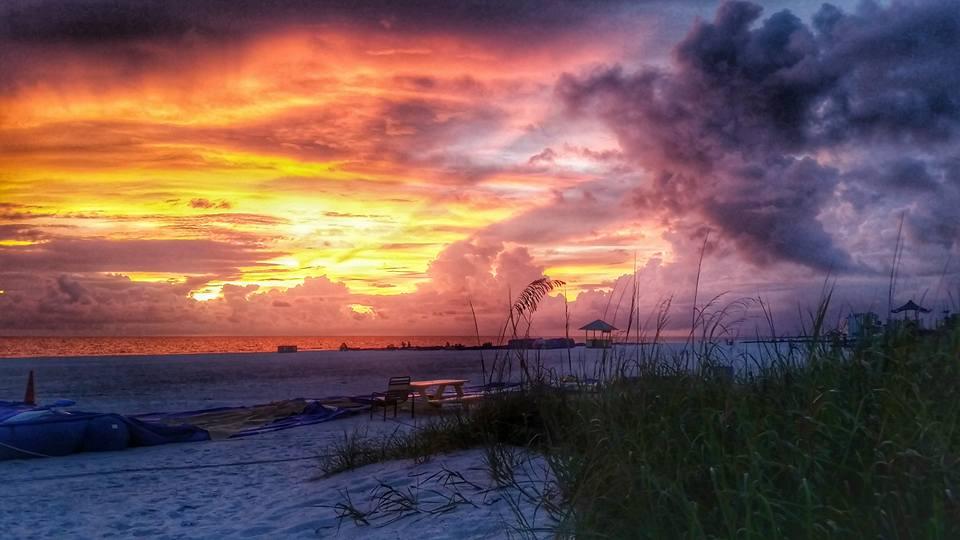 Sunset from Jimmy B's Beach Bar, St. Pete Beach, Florida