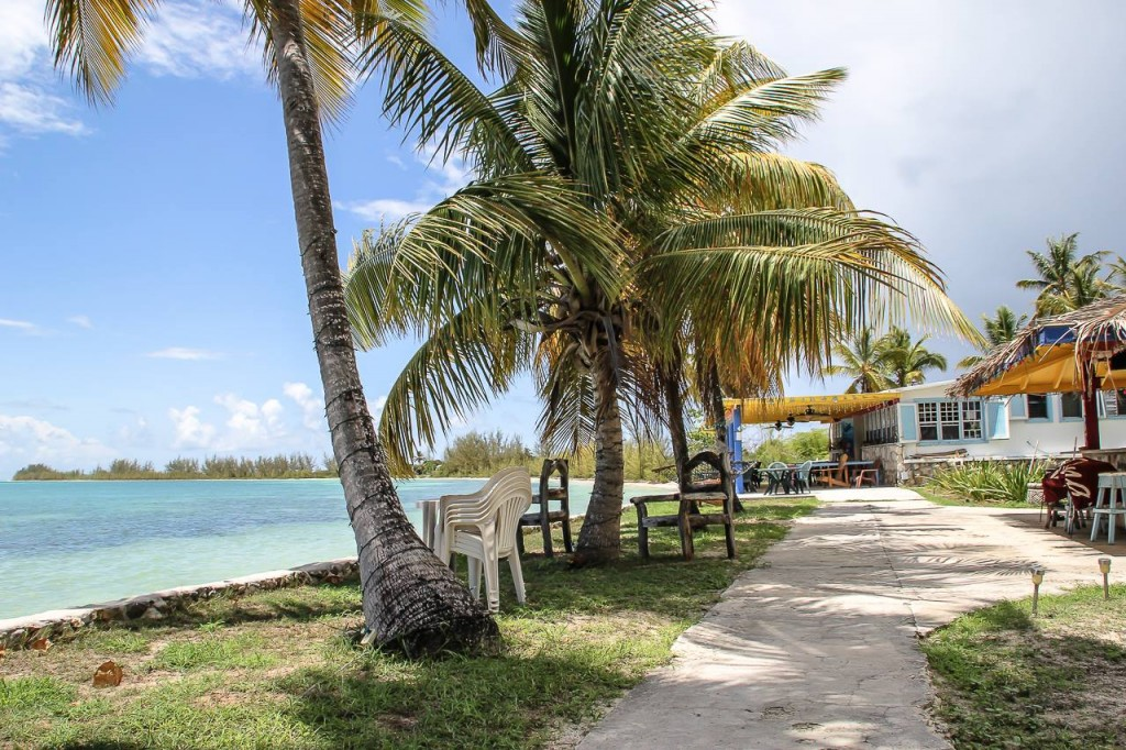 View in front of beach bar at Neptune's Treasure, Anegada, British Virgin Islands