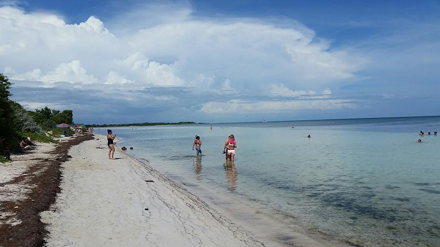 Southwest beach at Bahia Honda State Park, Florida Keys