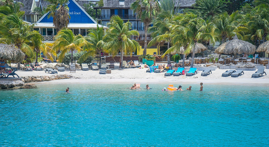 Beach at Lions Dive and Beach Resort, Curacao