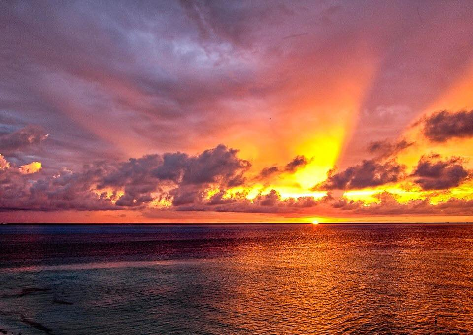 Isla Mujeres sunset from Playa Norte. Photo by Donna Caffo.