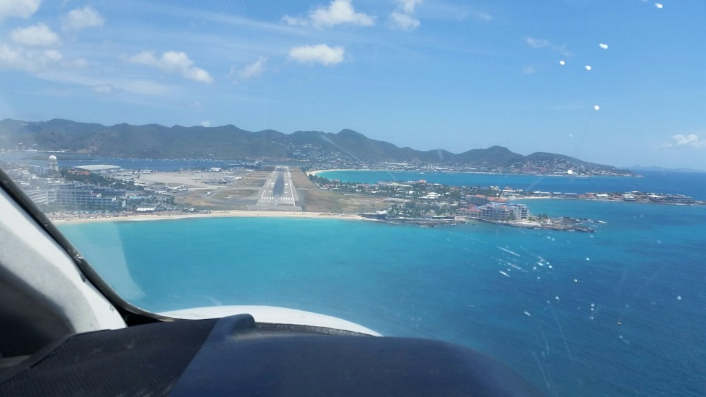 Anguilla to St. Maarten flight - landing at SXM