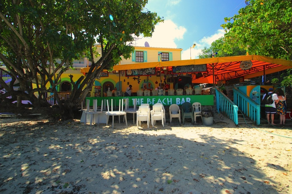 The Beach Bar, Cruz Bay, St John, USVI. Photo by Noelle Campbell.