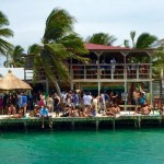 caye caulker, the split, belize, beach bar
