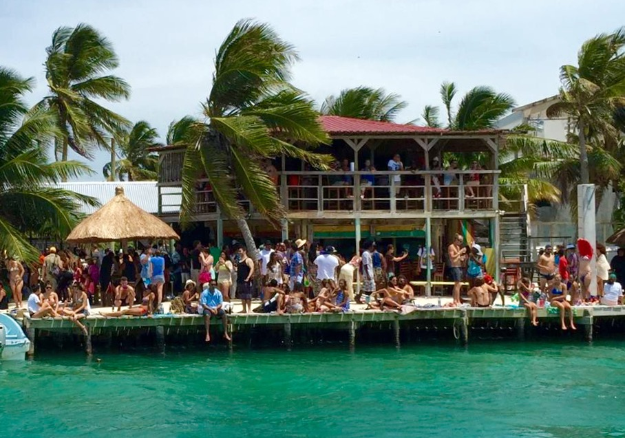 caye caulker, the split, belize, beach bar