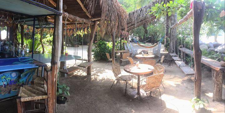 Beach bar at Junto al Rio, Sayulita, Mexico