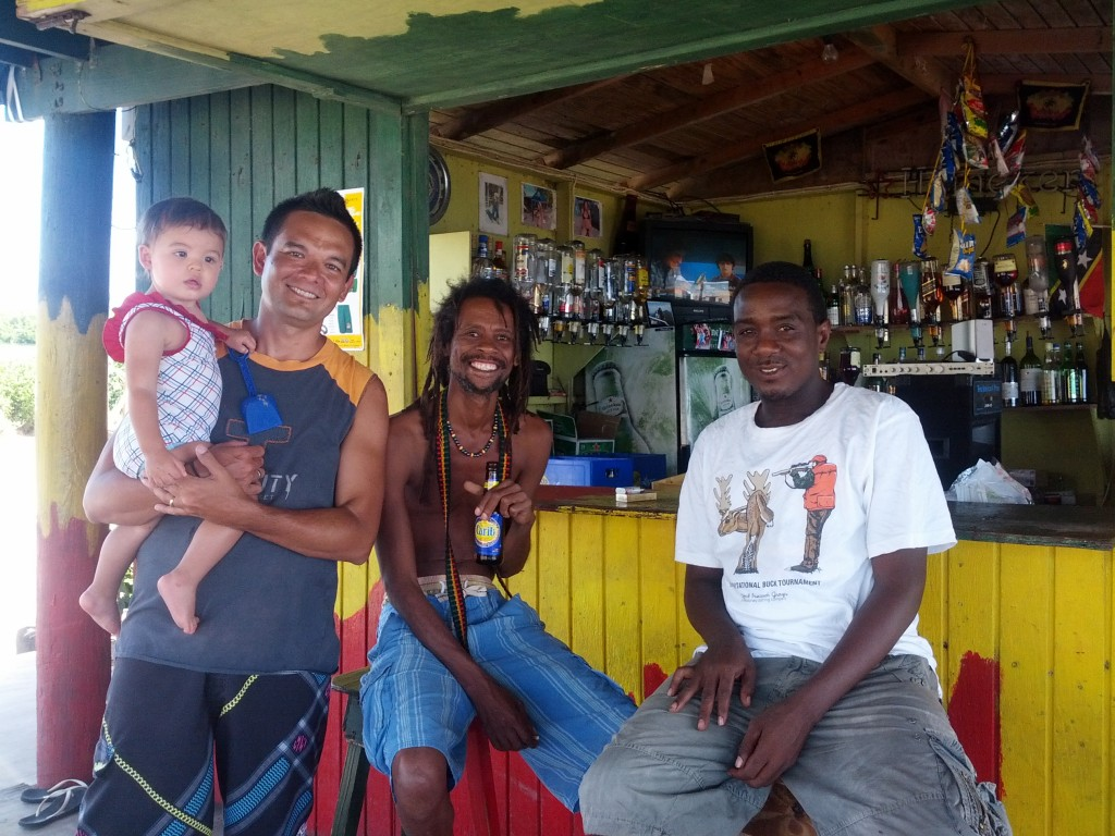 Hanging with Ketneal and Inon at Inon's Beach Bar, St. Kitts