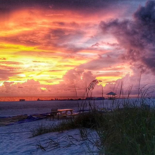 Sunset on the beaches of St. Pete Beach, Florida