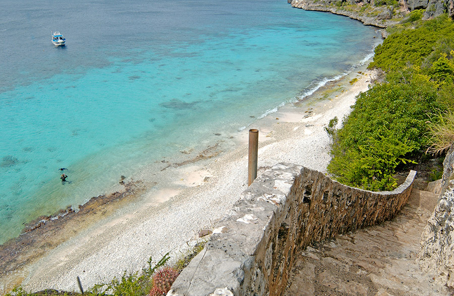 View of beach in Bonaire, courtesy of  Tourism Corporation Bonaire