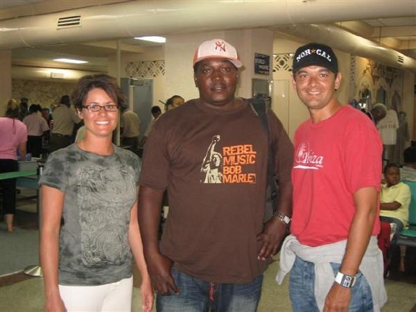 Hanging with Charles at Antigua's airport