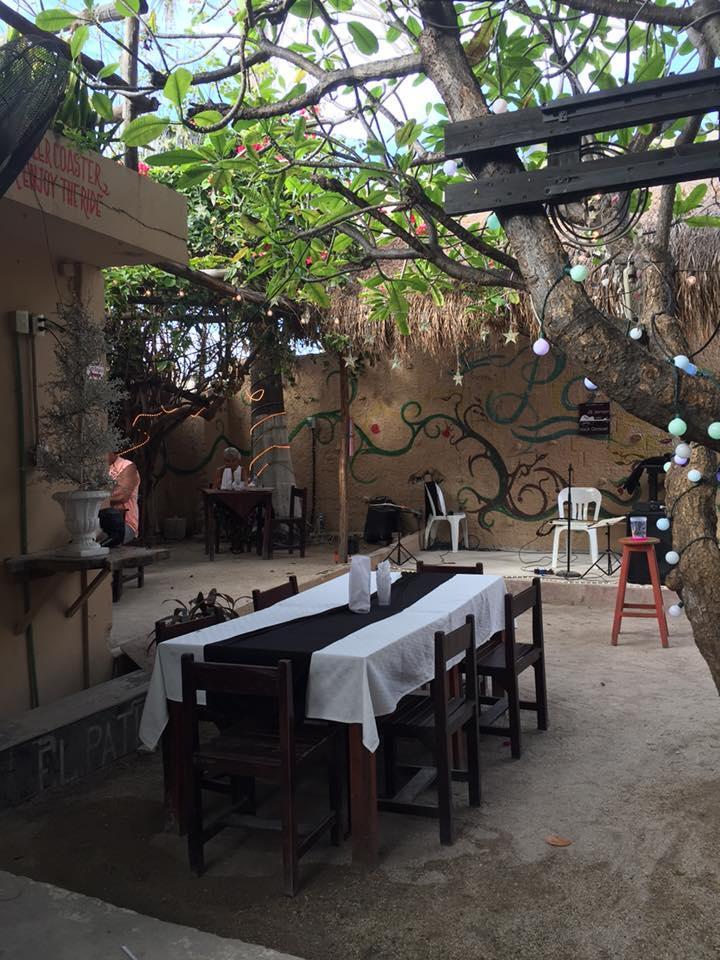 Courtyard at El Patio Caribbean Grill, Isla Mujeres, Mexico