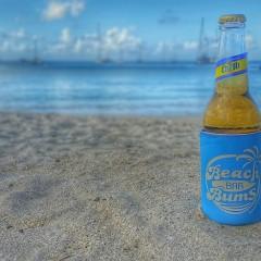 A Beer, A Beach And A Beach Bar Bum