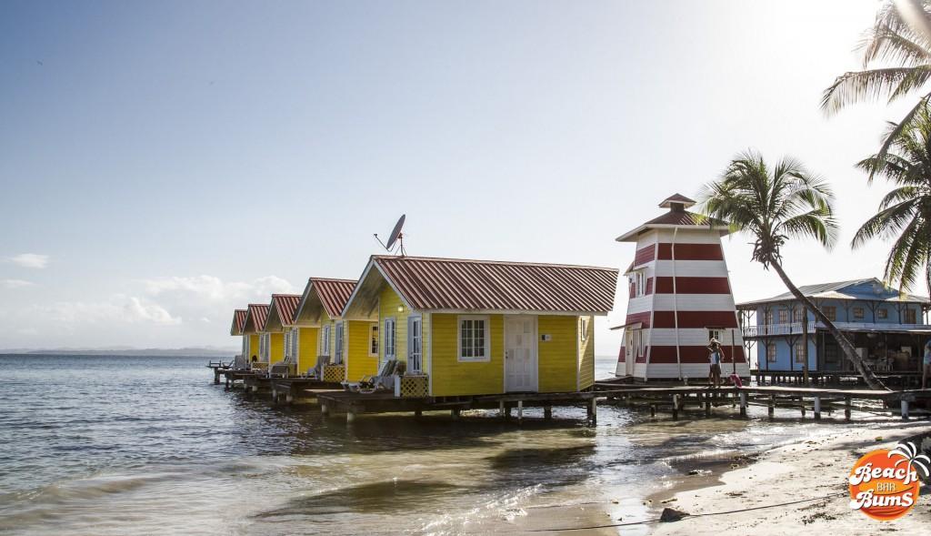 View of El Faro del Colibri Hotel, Isala Caranero, Bocas del Toro, Panama