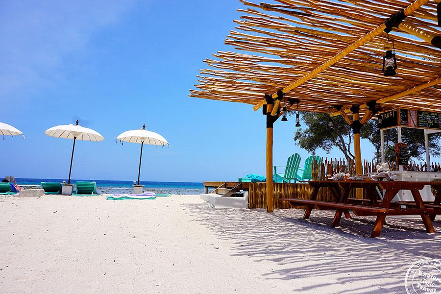 The Deck Beach Bar, Gili Trawangan, Indonesia. Photo by exploretastetravel.com.