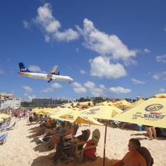 Plane Strikes Bird on Approach to St. Maarten's SXM Airport